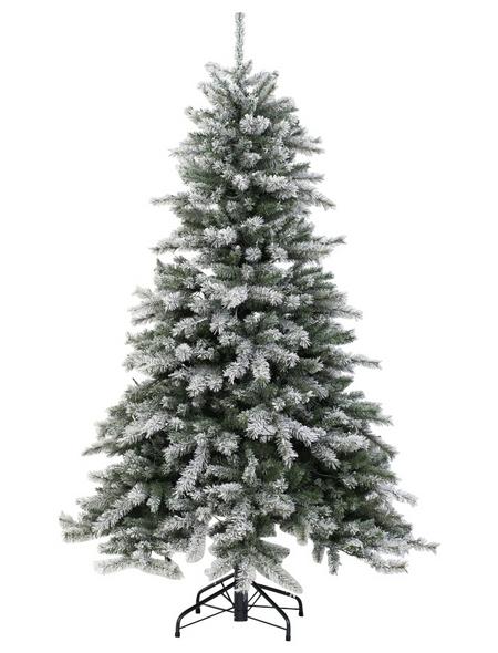 Evergreen Weihnachtsbaum »Cedar Frost«, Höhe: 180 cm, grün/weiß