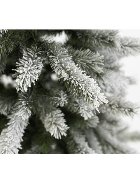 Evergreen Weihnachtsbaum »Fichte Frost«, Höhe: 150 cm, grün/weiß, beleuchtet