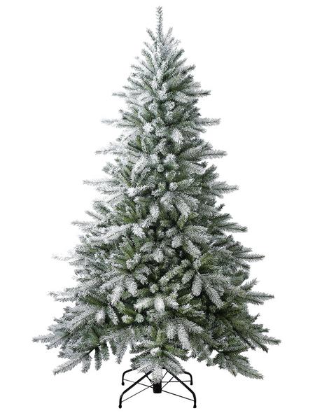 Evergreen Weihnachtsbaum »Fichte Frost«, Höhe: 180 cm, grün/weiß