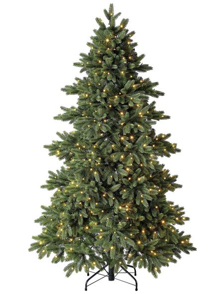 Evergreen Weihnachtsbaum »Roswell Kiefer «, Höhe: 150 cm, grün, beleuchtet