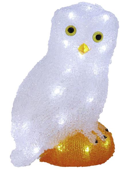 KONSTSMIDE Weihnachtsfigur, Eule, Höhe: 27,5 cm, Netzbetrieb