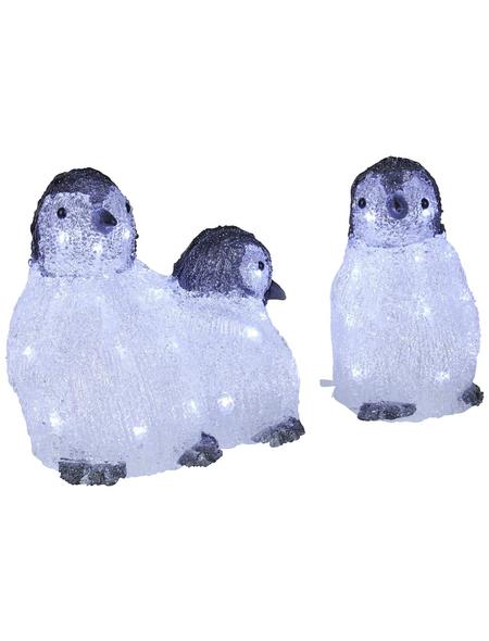 KONSTSMIDE Weihnachtsfigur, Pinguin, Höhe: 23 cm, Netzbetrieb