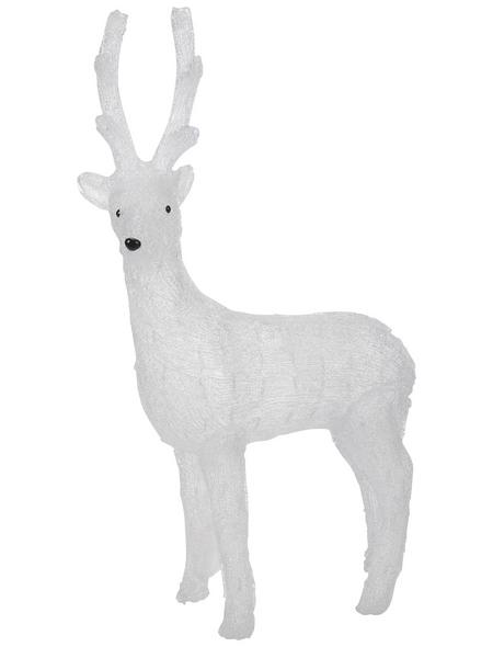 KONSTSMIDE Weihnachtsfigur, Rentier, Höhe: 105 cm, Netzbetrieb