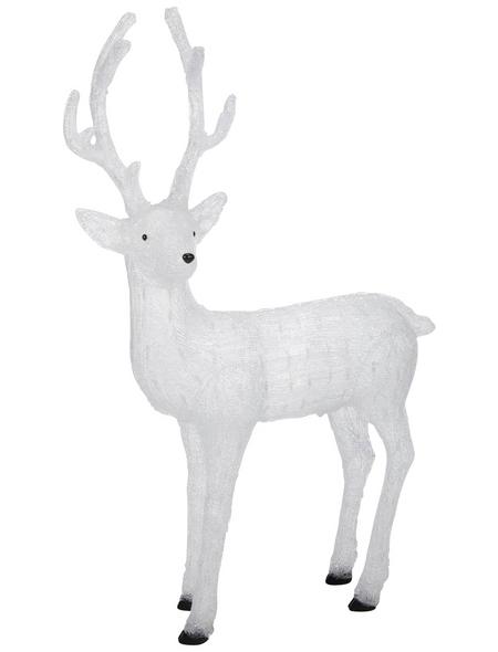 KONSTSMIDE Weihnachtsfigur, Rentier, Höhe: 130 cm, Netzbetrieb
