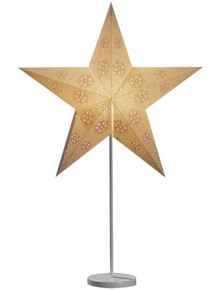 KONSTSMIDE Weihnachtsfigur, sternförmig, Höhe: 69 cm, netz, weiß