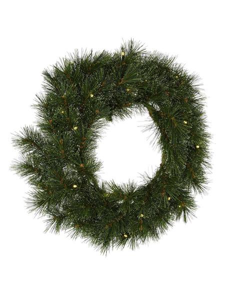 CASAYA Weihnachtskranz »Sölden«, Ø 60 cm, grün, Kunststoff, beleuchtet