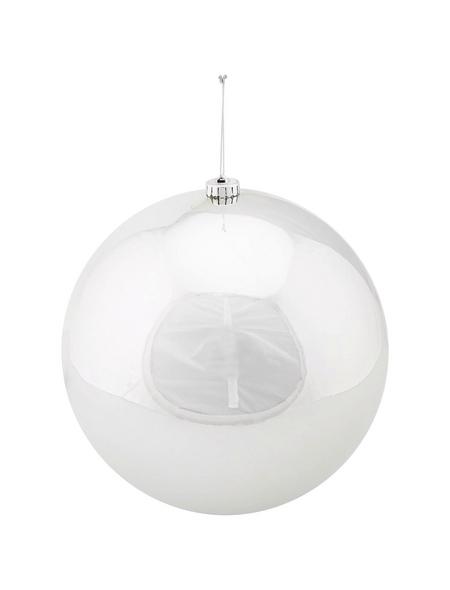 CASAYA Weihnachtskugel, Ø: 25 cm, silberfarben