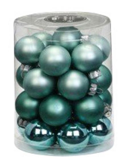 CASAYA Weihnachtskugel, Ø: 3 cm, mintgrün, 28 Stück