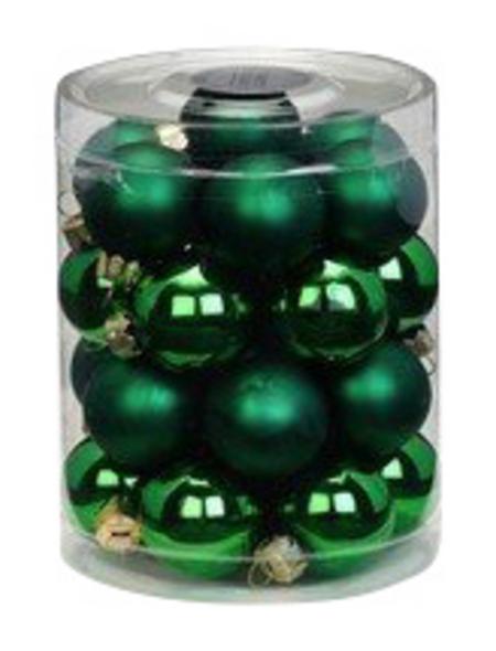 CASAYA Weihnachtskugel, Ø: 3 cm, tannengrün, 28 Stück