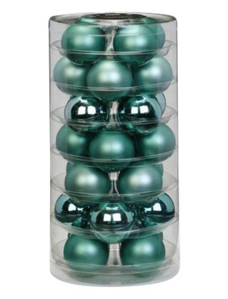 CASAYA Weihnachtskugel, Ø: 4,5 cm, mintgrün, 28 Stück