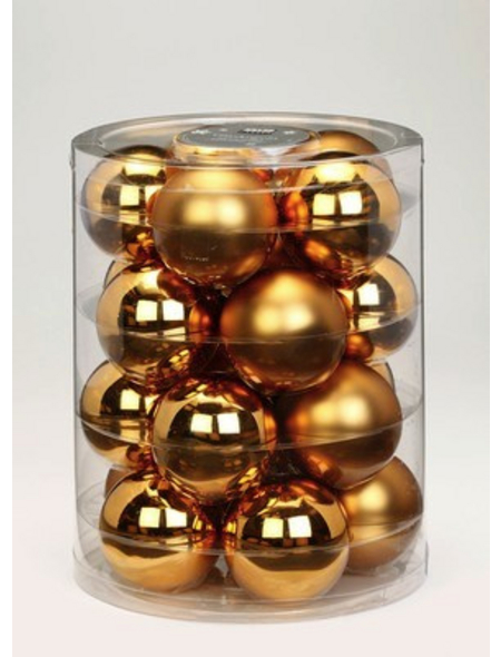 CASAYA Weihnachtskugel, Ø: 6 cm, goldfarben, 20 Stück