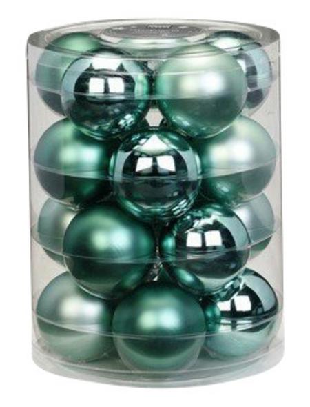 CASAYA Weihnachtskugel, Ø: 6 cm, mintgrün, 20 Stück