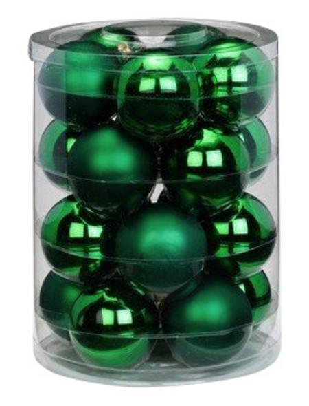 CASAYA Weihnachtskugel, Ø: 6 cm, tannengrün, 20 Stück