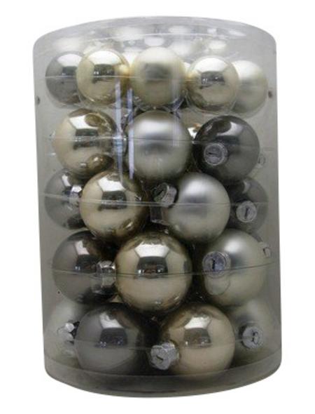 CASAYA Weihnachtskugel, perlbeige, 44 Stück
