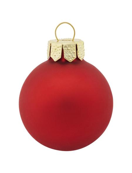 CASAYA Weihnachtskugel, rot, 44 Stück
