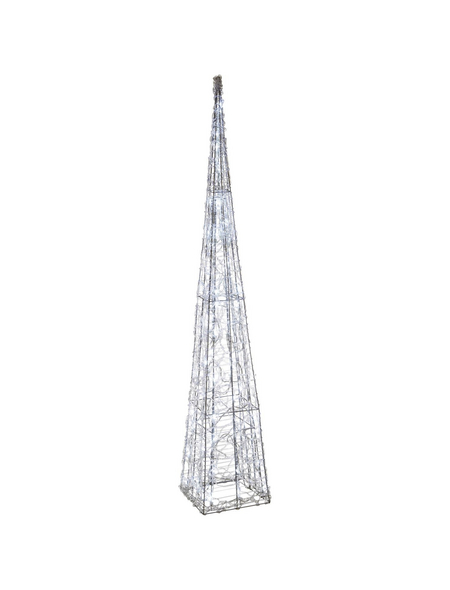CASAYA Weihnachtspyramide LED Acryl, außen, 120 cm, 80 Lichter, kaltweiss