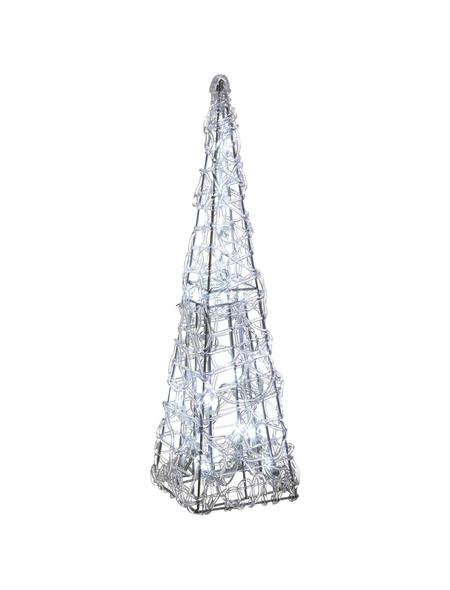 CASAYA Weihnachtspyramide LED Acryl, außen, 40 cm, 20 Lichter, kaltweiss