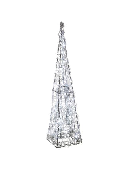 CASAYA Weihnachtspyramide LED Acryl, außen, 60 cm, 30 Lichter, kaltweiss