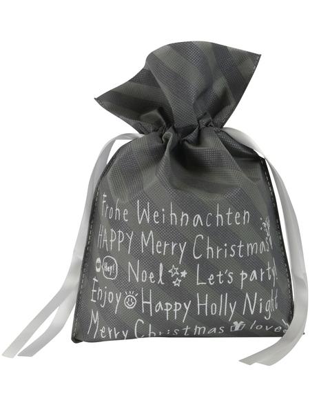 CASAYA Weihnachtstüte, zum Ziehen, Faserstoff ,Grau