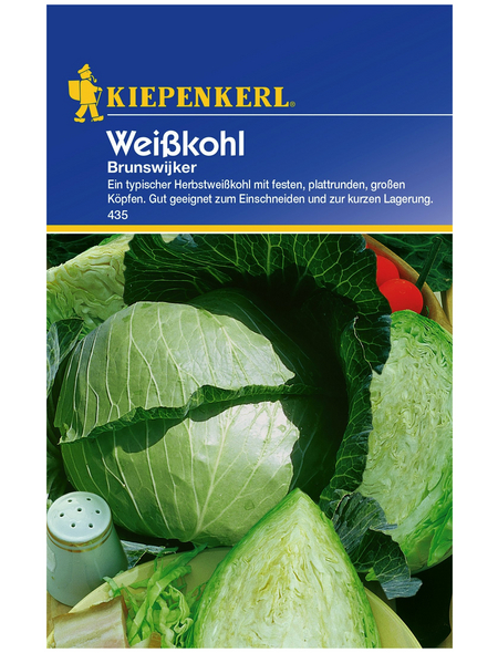 KIEPENKERL Weißkohl oleracea var. capitata f. alba Brassica »Brunswijker«