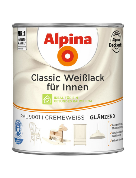 ALPINA Weißlack »Classic«, cremeweiss, glänzend