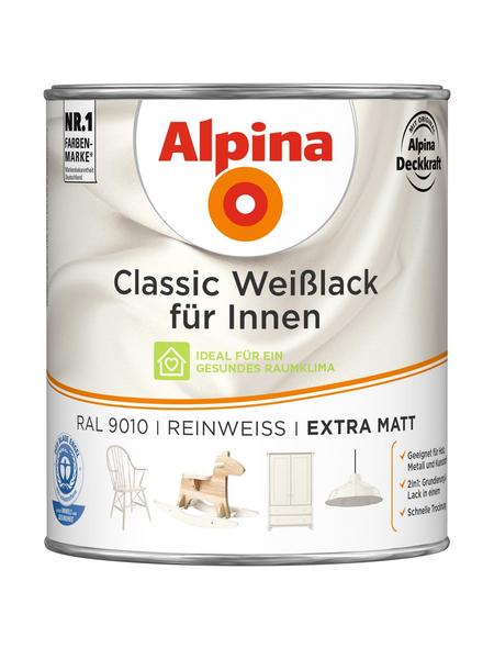 ALPINA Weißlack »Classic«, reinweiss, matt