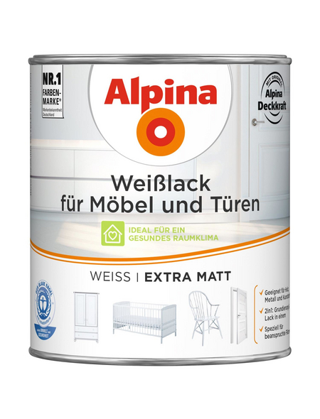 ALPINA Weißlack, matt