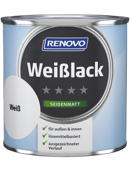 RENOVO Weißlack, seidenmatt