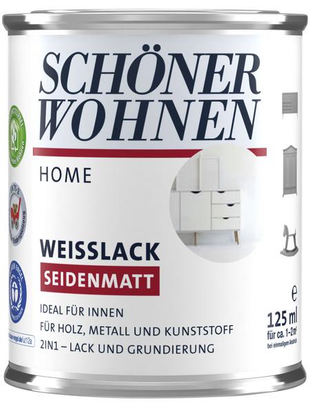 SCHÖNER WOHNEN Weißlack, seidenmatt