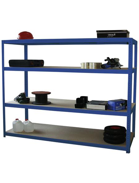 SZAGATO Weitspannregal, LxBxH: 60 x 150 x 160 cm, Blau