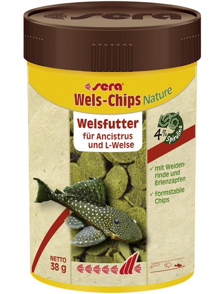 sera Wels-und Schmerlenfutter »Wels-Chips Nature«, Aqua, 100 ml (38g)