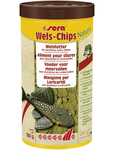 sera Wels-und Schmerlenfutter »Wels-Chips Nature«, Aqua, 1000 ml (380g )
