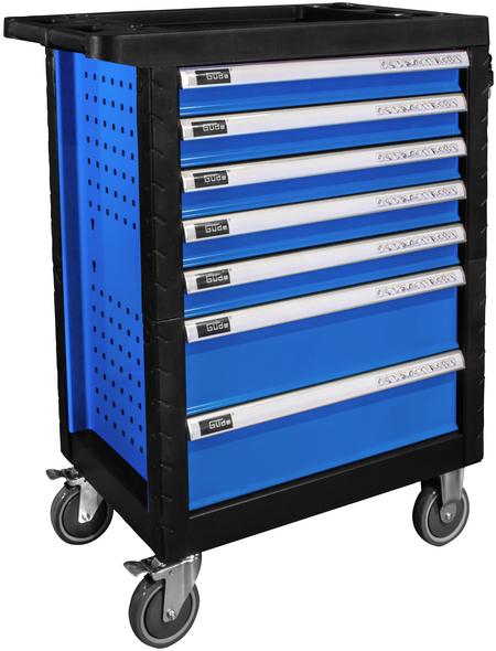 GÜDE Werkstattwagen »Premium GWP 07«, 250-tlg., BxH: 683 x 980 mm, mit 7 Schubladen, blau