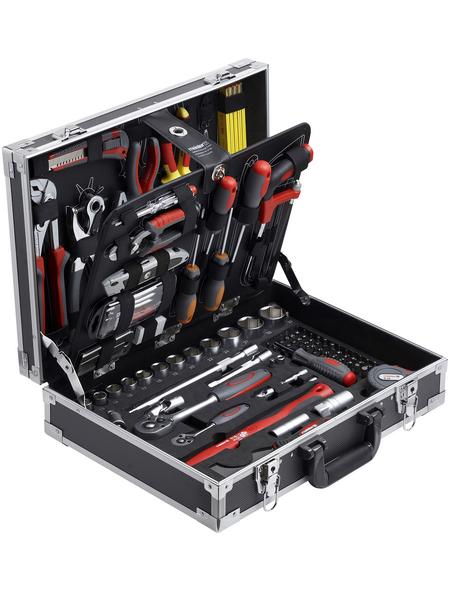 MEISTER Werkzeugkoffer »129-teilig«, Aluminium, bestückt, 129-teilig