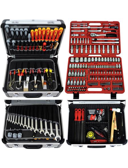 FAMEX Werkzeugkoffer »FAMEX 414-09«, Metall, bestückt, 260-teilig