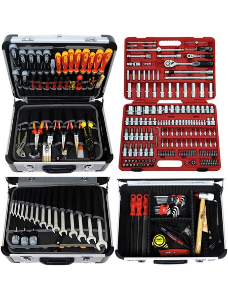 FAMEX Werkzeugkoffer »FAMEX 414-20«, Metall, bestückt, 174-teilig