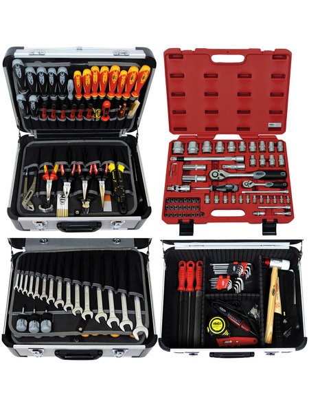 FAMEX Werkzeugkoffer »FAMEX 418-20«, Metall, bestückt, 66-teilig