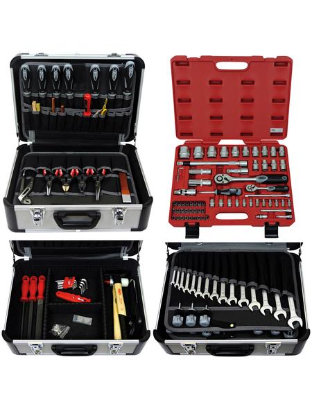 FAMEX Werkzeugkoffer »FAMEX 420-21«, Metall, bestückt, 66-teilig