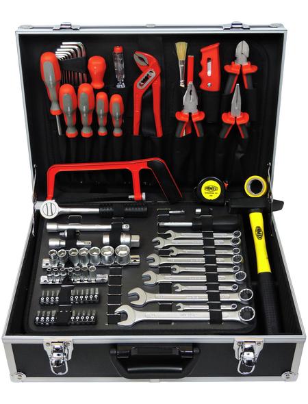 FAMEX Werkzeugkoffer »FAMEX 759-63«, Metall, bestückt, 125-teilig