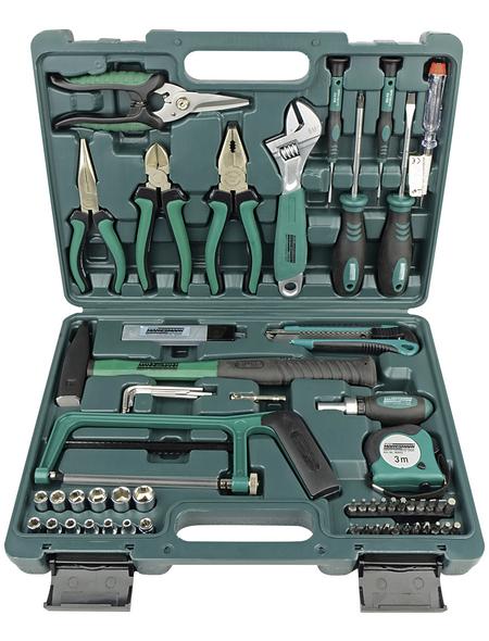BRUEDER MANNESMANN WERKZEUGE Werkzeugkoffer »M29074«, Kunststoff, bestückt, 74-teilig