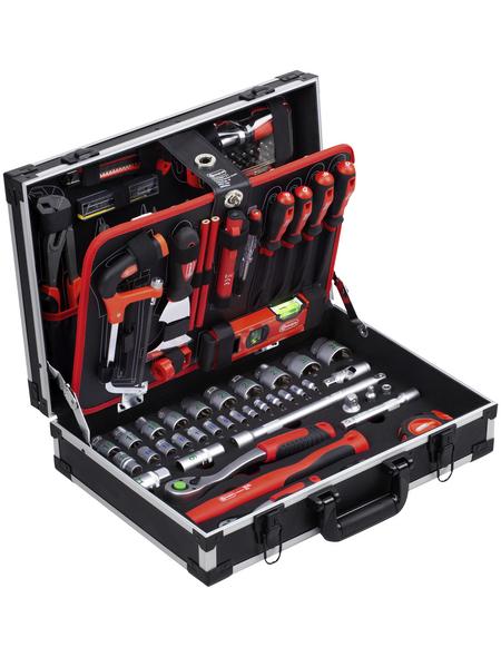 CONNEX Werkzeugkoffer, Metall, bestückt, 131-teilig