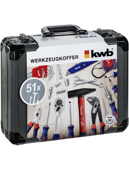 KWB Werkzeugkoffer, Metall, bestückt, 51-teilig