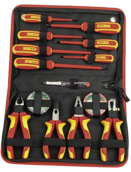 BRUEDER MANNESMANN WERKZEUGE Werkzeugsatz, Kunststoff/Stahl