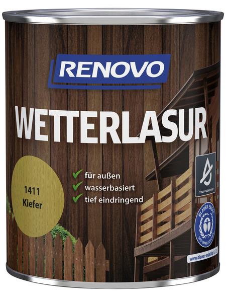 RENOVO Wetterlasur, für außen, 0,75 l, Kiefer, seidenglänzend