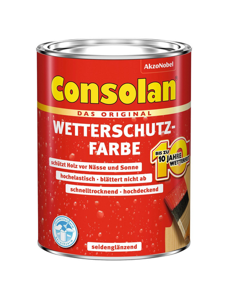 CONSOLAN Wetterschutzfarbe, 0,75 l, moosgrün
