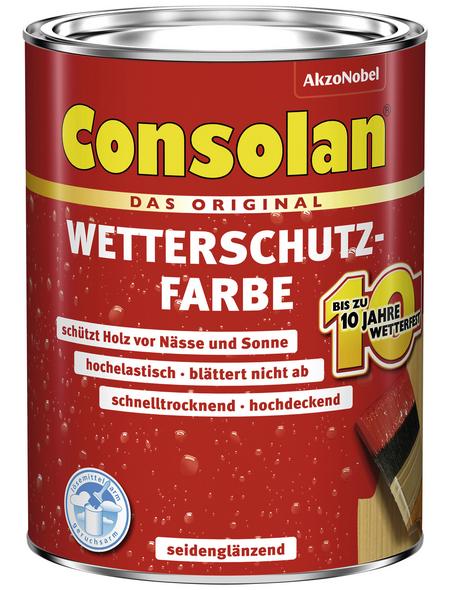 CONSOLAN Wetterschutzfarbe, schwedischrot, seidenglänzend, 2,5 l