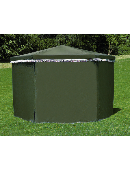PROMADINO Wetterschutzumhang, BxHxT: 450 x 172 x 1 cm, grün, Polyethylen (PE)