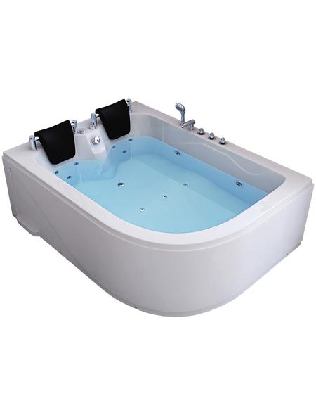 HOME DELUXE Whirlpool, für 2 Personen, B x T x H: 180 x 120  x  65 cm