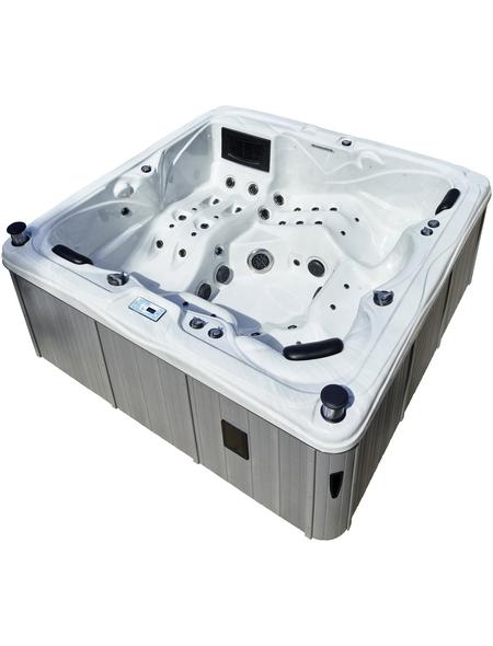 Whirlpool für 5 Personen, BxTxH: 230x230x90 cm