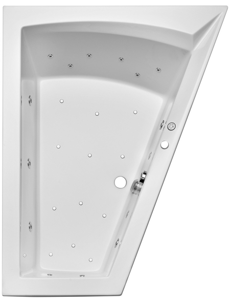 OTTOFOND Whirlpool-Komplettset »Galia II Mod. A «, für 2 Personen, BxTxH: 135x175x50 cm